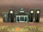 Catand039s Meow Village Wooden Bandstand Gazebo Railroad Crossing Light Poles Lot 5