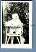 Real Photo Rppc M+2072 Happy Little Boy Sitting In Highchair