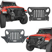 Stubby Mad Max Front Grill Guard Bumper Fit 18-21 Jeep Wrangler Jl Gladiator Jt