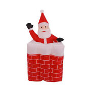 6ft Inflatable Santa Claus Decor Christmas Led Toys Auto Up And Down Fit Xmas Gift