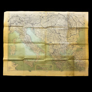 Wwii Rare 1944 Joint Allied Forces Headquarters War Room Strategic Planning Map