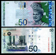 Malaysia 50 Ringgit Nd 2001 P 43 D Unc