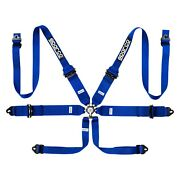 Sparco 04818rhal1az 6-point Aluminum Shoulder Fia Harness Set Blue