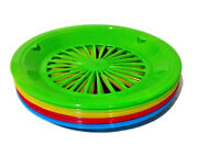Plastic Paper Plate Holders Green Yellow Red Blue Wheel Spokes Picnic Lot Of 15