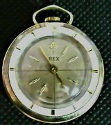 1960and039s Saxony Watch Rex Pendant Or Pocket Watch Switzerland/keeps Perfect Time