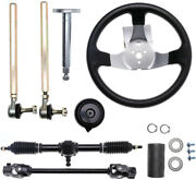 Go Kart Steering Wheel Shaft Assembly Tie Rod Gear Rack And Pinion 110cc 125cc