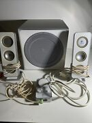 Logitech Z-4i Computer Speakers And Subwoffer With Remote Set White Replacement