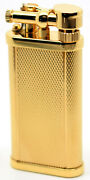 Dunhill Unique Lighter - Gold Plated Barley Finish