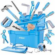 Hi-spec 25 Piece Beginner Carpentry Tool Set With Tool Box Wood Carving Tools...