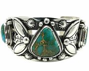 Arland Ben Bracelet Stone Cabin Turquoise Revival Style Navajo Made 6 3/4