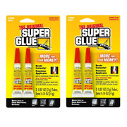 The Original Super Glue Tube 2-pack For Metal Wood Rubber And Plastic 2 Packs