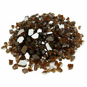 Uniflasy Copper Fire Glass For Natural Propane Fireplace Outdoor Indoor 100 Lb