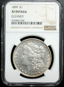 1899-p Morgan Dollar Ngc Certified Xf Details .light Old Cleaning