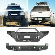 Front Rear Bumper W/ Winch Plate Led Lights Fit Toyota Tacoma 05-15 2nd Gen
