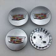 4x New 67mm 2.6 Wheel Center Hub Caps Chrome For Cadillac Ats Cts Dts Sts Srx