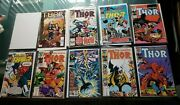 Marvel Comic Group The Mighty Thor Comic Lot Of 9 Issues. Excellent Condition