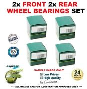 2x Front 2x Rear Wheel Bearings For Smart Fortwo Cabrio 0.8 Cdi 2009-on