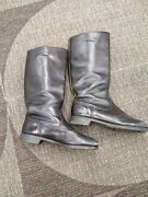 Black Leather Riding Boots. Mens Size 11