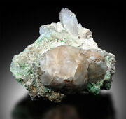 Pollucite Crystal With Green Tourmalines And Albite Specimen From Paprock - 9kg