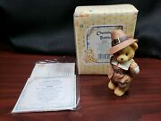 1994 Enesco Cherished Teddies Jedediah Giving Thanks For Friends 617091