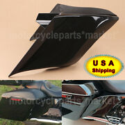 Vivid Black Stretched Extended Side Cover For Harley Touring Baggers 2009-2013
