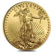 Last Design American Eagle 2021 One Ounce Gold Proof Coin 21eb Ready To Ship