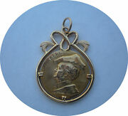 Art Nouveau One Of A Kind 18k Gold Composer Richard Wagner Pendant By R. Mayer
