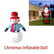 Inflatable Doll 6ft 70.87inch 180cm Christmas Snowman Santa Claus Outdoor Indoor