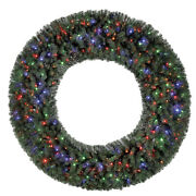 Home Heritage 72 Inch Holiday Christmas Wreath With 400 Color Led Lights Used