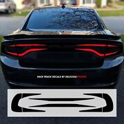 Tail Light Race Track Precut Overlay Rear Decal Vinyl Black 8 For 15-21 Charger