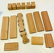 Vintage Wooden Snap Train And Track Set