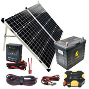 Solar Power Kit - Lion Energy Panel, Inverter, Charge Controller, And Cable
