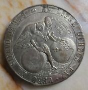 Guatemala 1821 Silver Independence Medal. 1908 Restrike. 43mm, 49.6g. Xrare