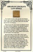 Authentic Piece Of Abraham Lincolnand039s Law Office Site On Coa