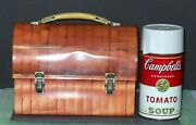 1968 Bread Box Vintage Metal Dome Lunchbox With Thermos By Aladdin