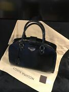 Authentic Louis Vuittons Pont Neuf Tote Bag Black Electric Epi Leather