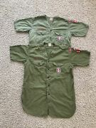 Lot Of 2 Vtg 60's Boy Scouts Of America Bsa Eagle Scout W/ Patches Calif Shirts