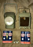 Ww2 No1 Electric Torch And Battery Adaptors And Led Bulbs British D-day Commonwealth