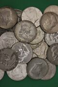 Make Offer 3 Troy Pounds Ben Franklin And 1964 Kennedy 90 Silver Junk Coins