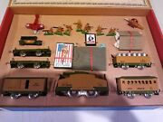 Rare Deluxe 30pc. Ww1 Army Train Complete Set Mfg. By Rich Art Co. For Tthf