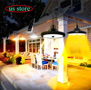 Double Head Led Solar Panel Shed Lights Indoor Outdoor Hanging Pendant Yard Lamp