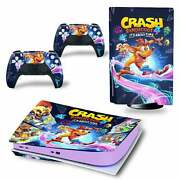 Ps5 Skin Decal Vinyl Wrap Sticker Playstation Crash Bandicoot 4 Its About Time