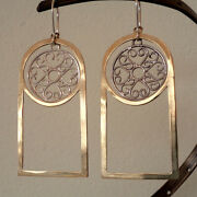 Dreamcatcher Boho Hippie Unique Handcrafted 925 Sterling Silver Earrings