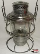 Candsry- Colorado And Southern Railway 1913 Adlake Reliable Lantern W/ce Melon Globe