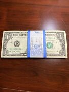 Bundle 2017 1-cleveland 100 X1 Dollar Bills Note Currency 2001-2100 Year Notes