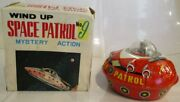 Space Patrol No.9 Wind-up Mystery Action Takatoku Toys Figure With Box Japan