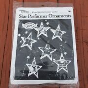 Cross Stitch Craft Kit Star Performer Christmas Ornaments Better Homes And Gardens
