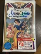 Snow White And The Seven Dwarfs Vhs, 1994 Collectable New In Original Wrap