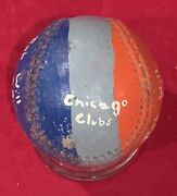 Vintage 1961 Chicago Cubs Bob Will Painted Trophy Game Used Baseball Antique Old