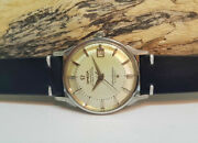 Rare Vintage 1963 Omega Constellation Pie Pan Silver Dial Date Auto Manand039s Watch